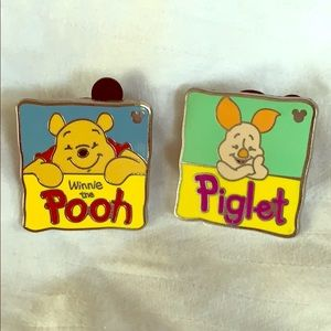 Winnie-the-Pooh and Piglet Pins